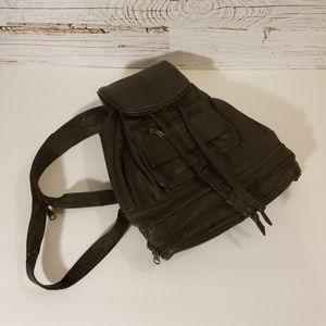 Handbags - Genuine leather dark brown mini backpack